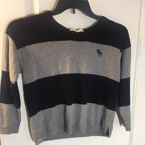Abercrombie Gray Striped Sweater